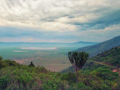 Scenic view from the rim of Ngorongoro crater, Tanzania