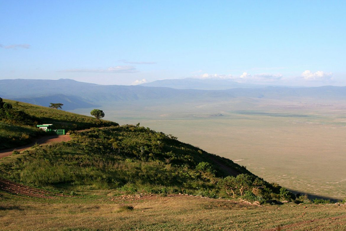 5877411 - view into ngorongoro crater, tanzania from the rim
